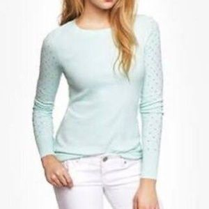 Express - Rhinestone Embellished Sleeve Sweater